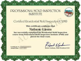Residential Mold Inspector Certificate_副