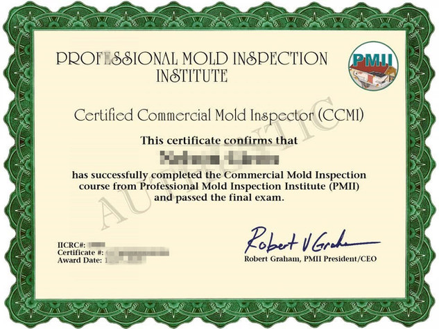 Commercial Mold Inspector Certificate_副本