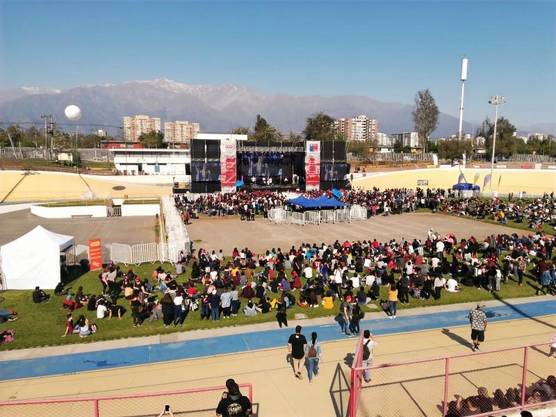 Evenement journée de la musique chilienne au stade national de Santiago du Chili