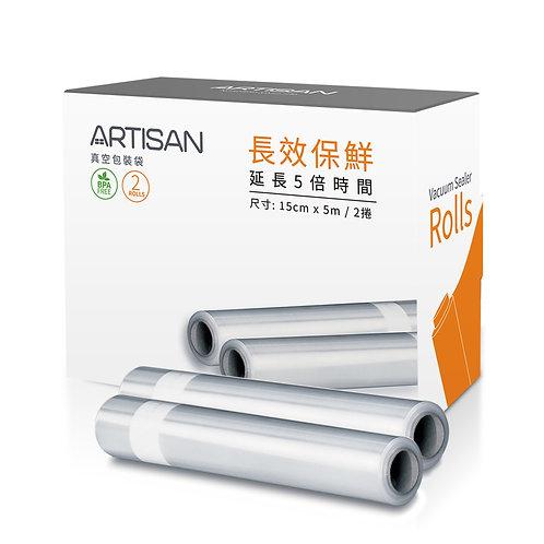 15x500cm條紋真空包裝袋 (2卷入)-VBR1505