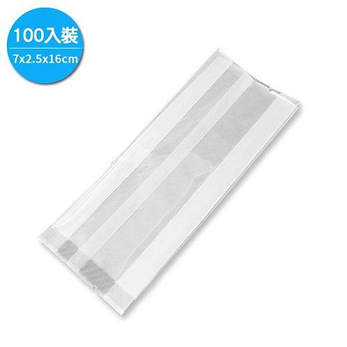 MIT手工皂包裝袋 / 亮面 7x2.5x16cm (1包100入裝) TPR0058
