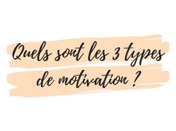 Quels sont les 3 types de motivation ?