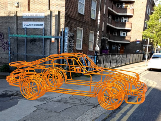 Full-Size Wireframe Super Cars Going Viral in UK