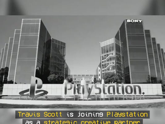 Travis Scott as Playstation's Newest Strategic Creative Partner.