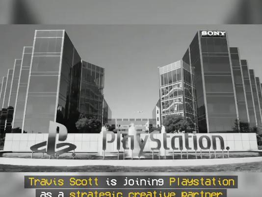 Travis Scott as Playstation's Newest Strategic Creative Partner.