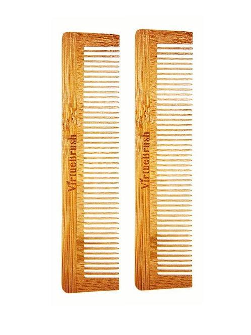 BAMBOO POCKET HAIR COMB X2