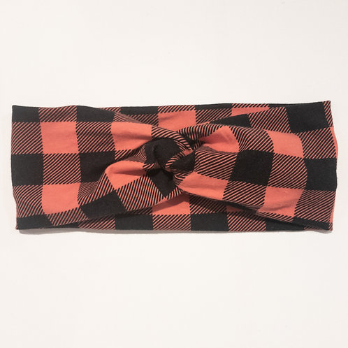 Turban-Style - Red Buffalo Plaid