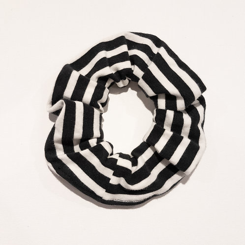 Scrunchies - Black Stripe
