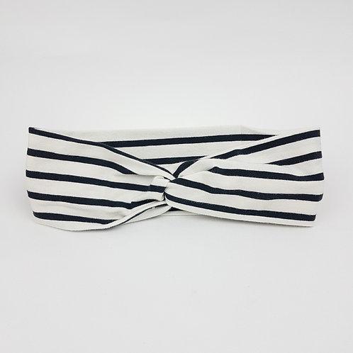 Junior Turban - Black Stripe