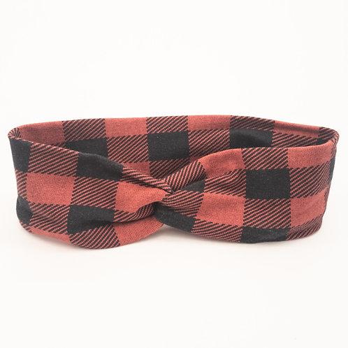 Junior Turban - Red Plaid