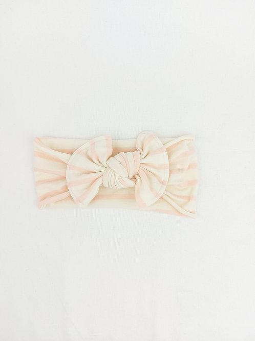 Baby Bows - Blush Stripe