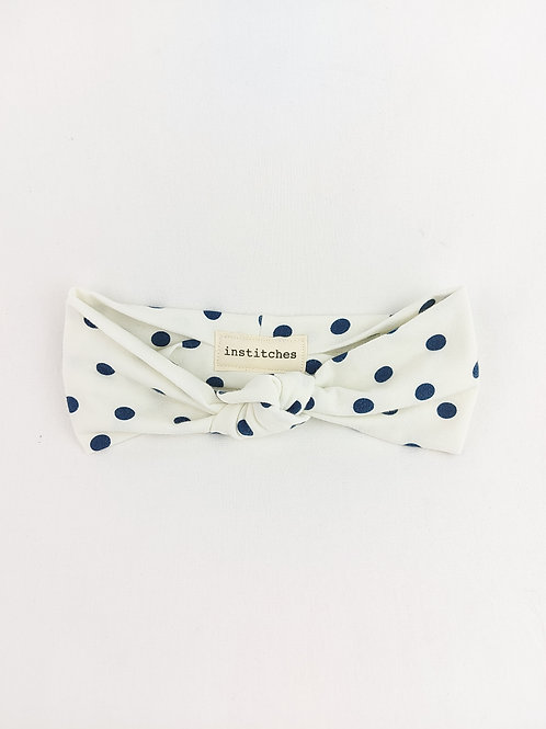 Junior Knotted - Navy Spots