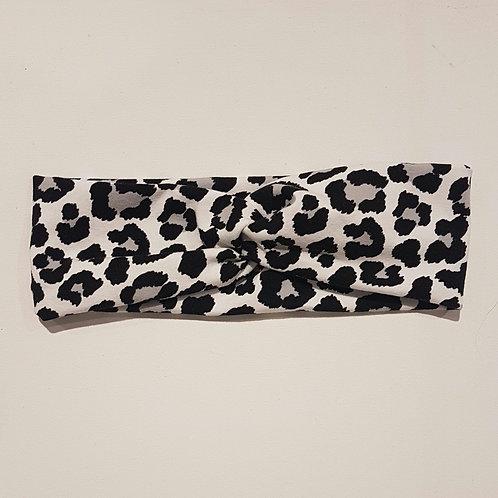 Junior Turban - Grey Leopard