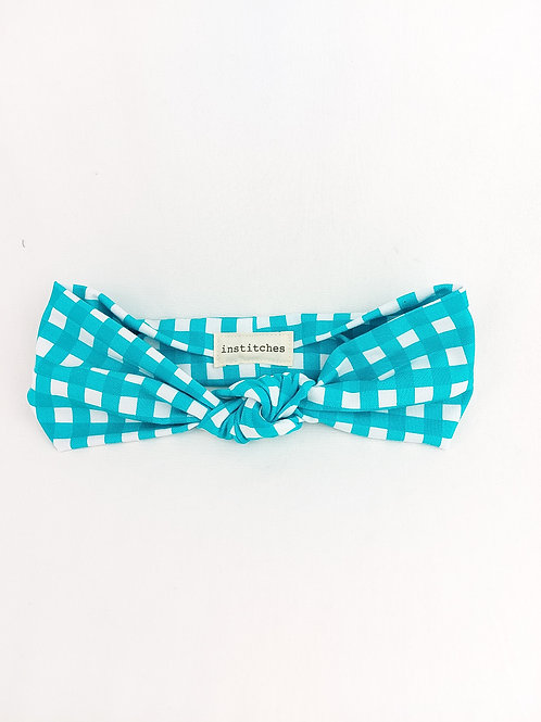 Knotted - Turquoise Check