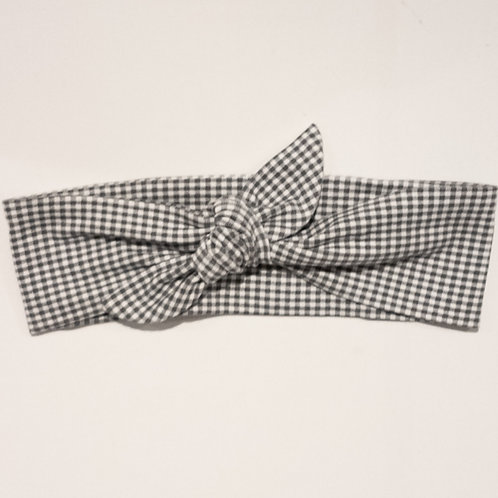 Tied-Up - Grey Gingham