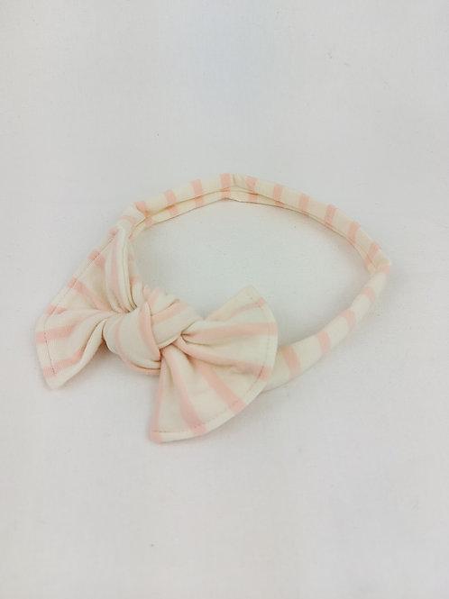 Junior Bows - Blush Stripe
