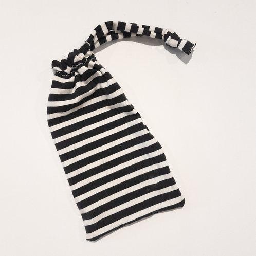 Wristlet Bag - Black Stripe