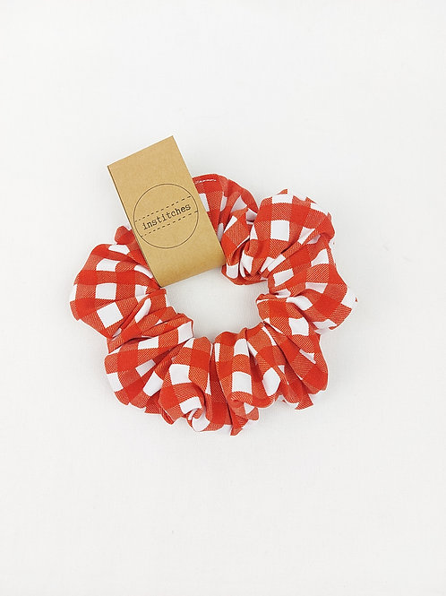 Scrunchies - Red Gingham