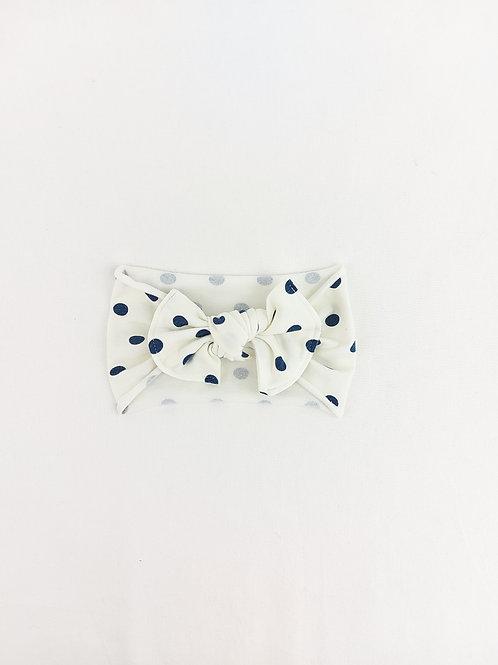 Baby Bows - Navy Spots