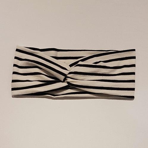 Turban-Style - Black Stripe