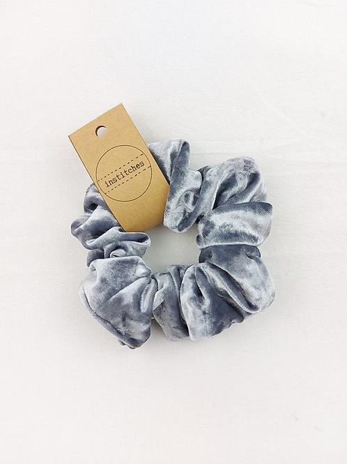 Scrunchies - Silver Velvet