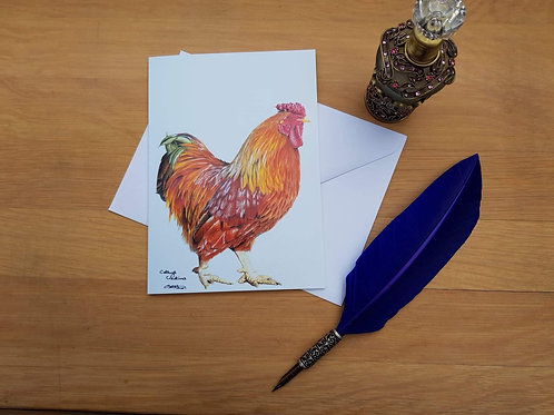 Red Rooster greetings card.