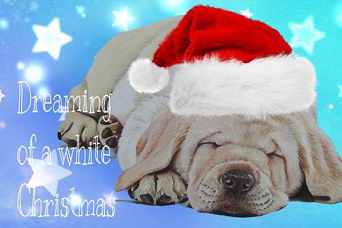 Labrador puppy Christmas card