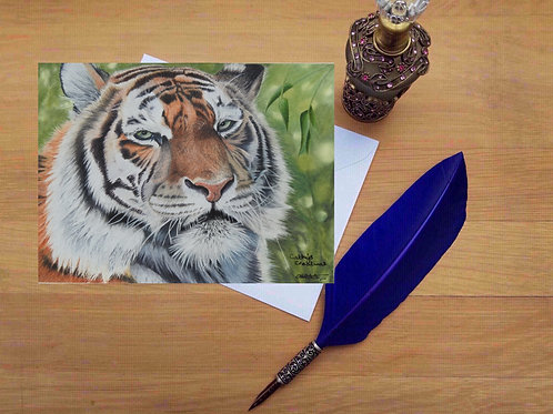 Tiger greetings card
