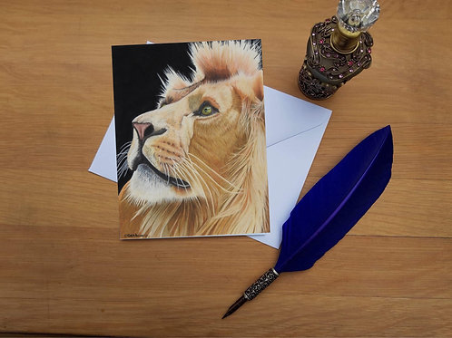 King of kings; Lion greetings card