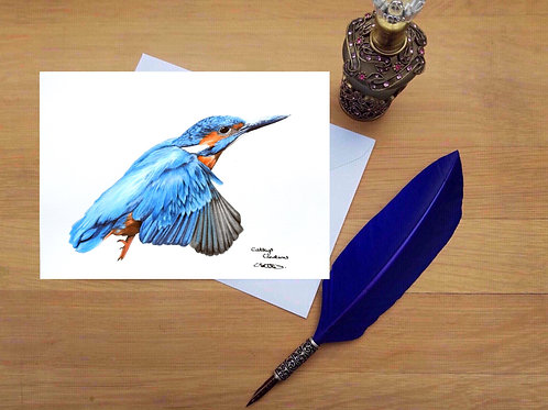 Kingfisher greetings card.
