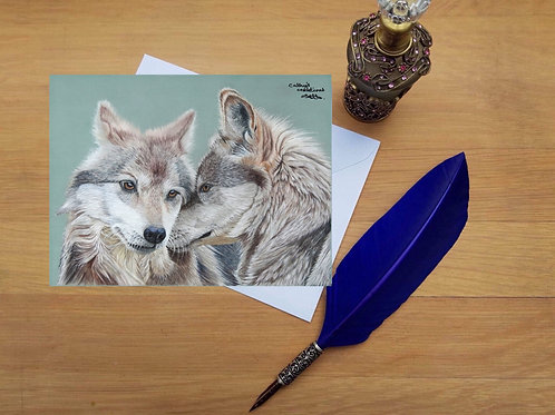 Wolves greetings card.