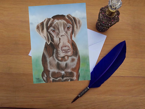 Chester the Chocolate mix greetings card