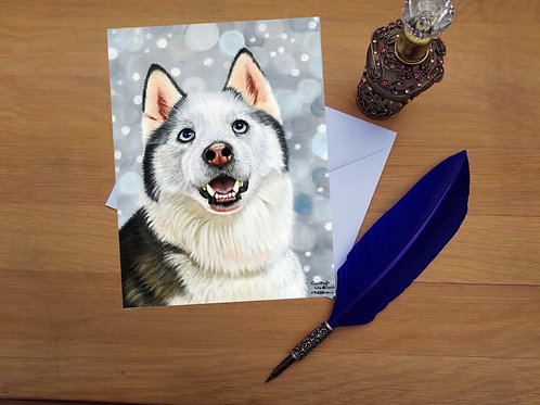 Husky greetings card