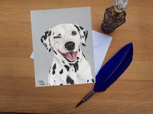 Dalmatian greetings card