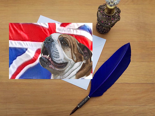 British Bulldog greetings card.