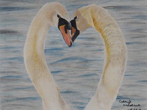 Swan loveheart
