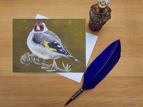 Goldfinch greetings card.