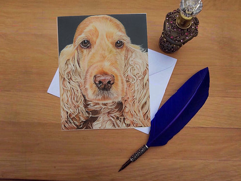 Susie the Cocker Spaniel greetings card.