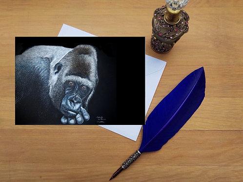 Gorilla greetings card.