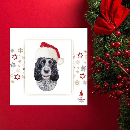 Blue Roan Cocker Spaniel Christmas card