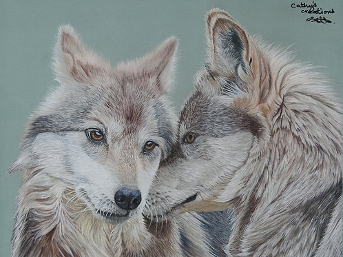 "wolf lovers wall art ""Soul Mates"""