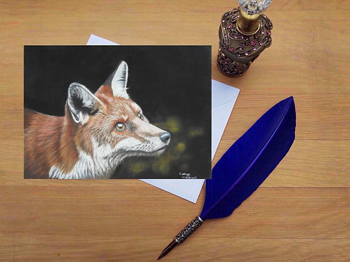 Fox love greetings card