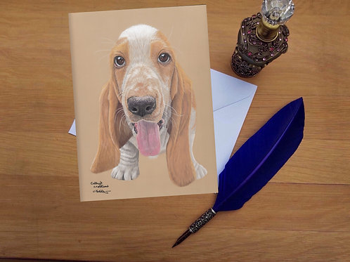 Jethro the Basset Hound greetings card