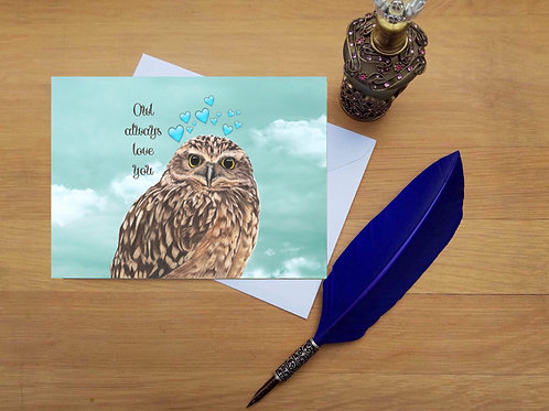 Romantic Owl card