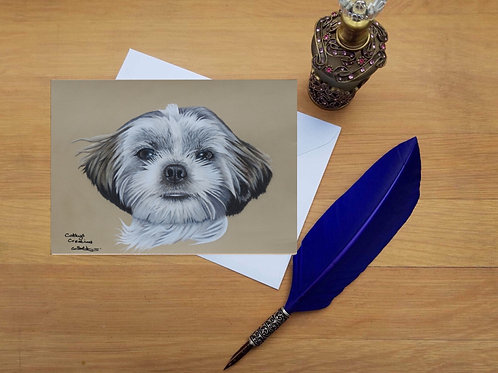 Milly the Shih Tzu greetings card.