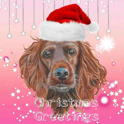 Irish Setter Christmas card