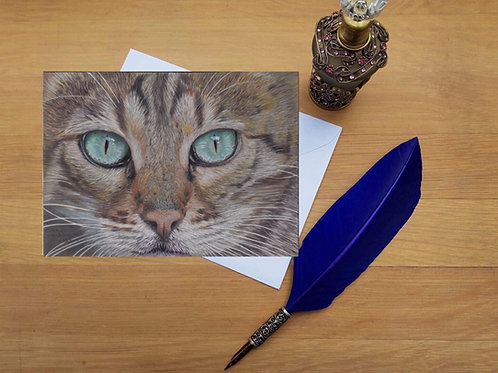 Gerald the Bengal cat greetings card.