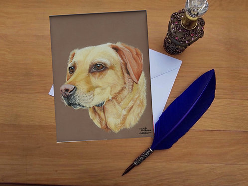 Golden Labrador Retriever greetings card