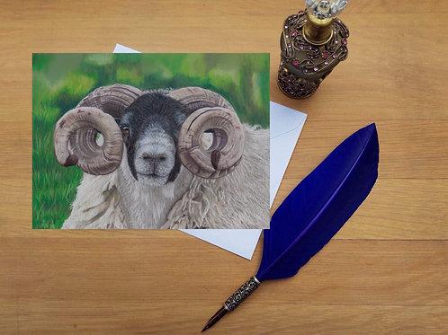 Ram greetings card.