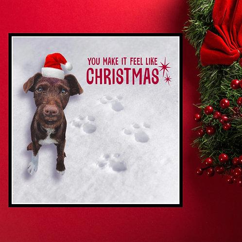 Patterdale terrier Christmas card